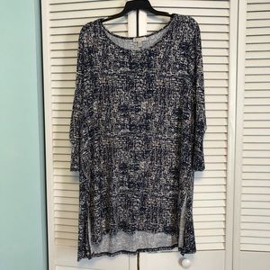 NWOT Lila Rose tunic in navy